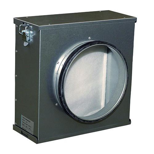 SYSTEMAIR FGR 100 Filterkassette DN 100, Stahlblech verzinkt, Filterklasse G3